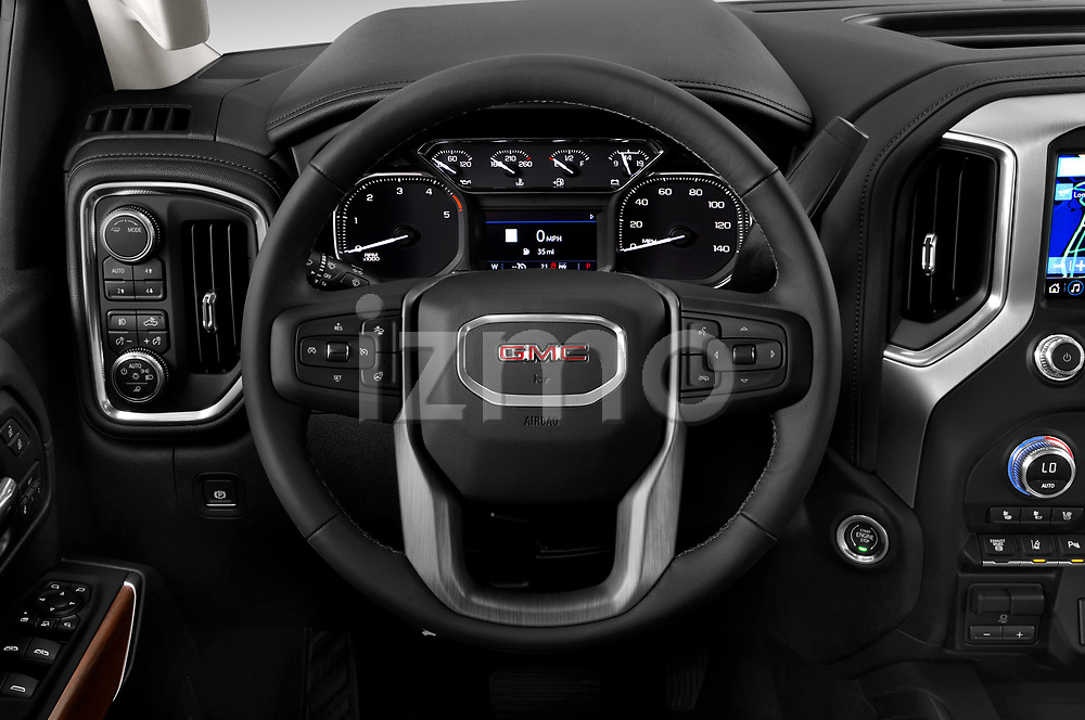 Car pictures of steering wheel view of a 2020 GMC Sierra-2500-HD SLT 4 Door Pick-up Steering Wheel