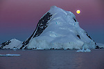 Moonrise, Lemaire Channel, Antarctica<br /> <br /> The Lemaire Channel is a placid strait on the west coast of the Antarctic Peninsula.<br /> <br /> Canon EOS-1D X, EF70-200mm f/2.8L IS II USM lens, f/7.1 for 1/320 second, ISO 800