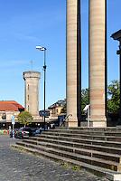 Wasserturm und Dreifaltigkeits- oder deutsche Kirche am Stortorget in Karlskrona, Provinz Blekinge, Schweden, Europa, UNESCO-Weltkulturerbe<br /> Watertower and Holy Trinity or German Church at Stortorget  in Karlskrona, Province Blekinge, Sweden