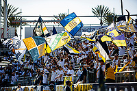 CARSON, CA - MAY 8: Los Angeles Galaxy supporters during a game between Los Angeles FC and Los Angeles Galaxy at Dignity Health Sports Park on May 8, 2021 in Carson, California.