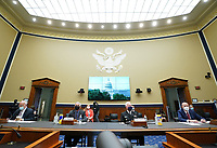 Centers for Disease Control and Prevention Dr. Robert Redfield, Director of the National Institute for Allergy and Infectious Diseases Dr. Anthony Fauci, Assistant Secretary for Health U.S. Department of Health and Human Services ADM Brett P. Giroir and Commissioner of U.S. Food and Drug Administration Dr. Stephen M. Hahn prepare to testify before the House Committee on Energy and Commerce on the Trump Administration's Response to the COVID-19 Pandemic, on Capitol Hill in Washington, DC on Tuesday, June 23, 2020.   <br /> Credit: Kevin Dietsch / Pool via CNP/AdMedia