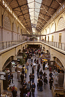 San Francisco, California - Ferry Building Exclusive Shops.  The terminal for San Francisco Bay ferries has been converted into a center for upscale food and gift shops.