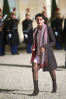 French Education Minister Najat Vallaud-Belkacem arrives to attend a dinner in honour of Senegal's President Macky Sall at the Elysee Palace in Paris, France December 20, 2016. # FRANCOIS HOLLANDE RECOIT MACKY SALL POUR LE DINER A L'ELYSEE