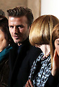 David Beckham talks to Anna Wintour in the front row  of the Victoria Beckham  show at New York Fashion Week for Autumn/Winter 2013 , Sunday, 10th February 2013. Photo by: Stephen Lock/ I-IMAGES/ DYD FOTOGRAFOS-DYDPPA