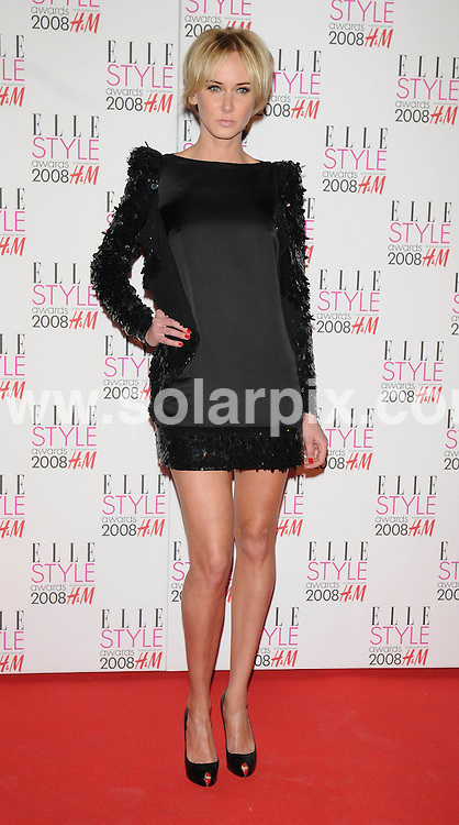 **ALL ROUND PICTURES FROM SOLARPIX.COM**.**WORLDWIDE SYNDICATION RIGHTS**.Celebrities arrive for the Elle Style Awards at The Roundhouse, London. 12th February 2008..This pic: Kimberley Stewart..JOB REF: 5777 ATM     DATE: 12_02_2008.**MUST CREDIT SOLARPIX.COM OR DOUBLE FEE WILL BE CHARGED* *UNDER NO CIRCUMSTANCES IS THIS IMAGE TO BE REPRODUCED FOR ANY ONLINE EDITION WITHOUT PRIOR PERMISSION*