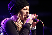 Marie-Mai Bouchard<br />  on stage at the<br /> XM Radio First Anniversary at Club Soda in Montreal, January 30, 2007