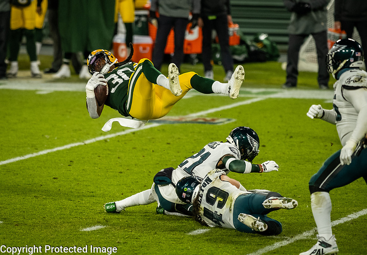 Green Bay Packers against the Philadelphia Eagles during a regular season game at Lambeau Field in Green Bay on Sunday, December 6, 2020.