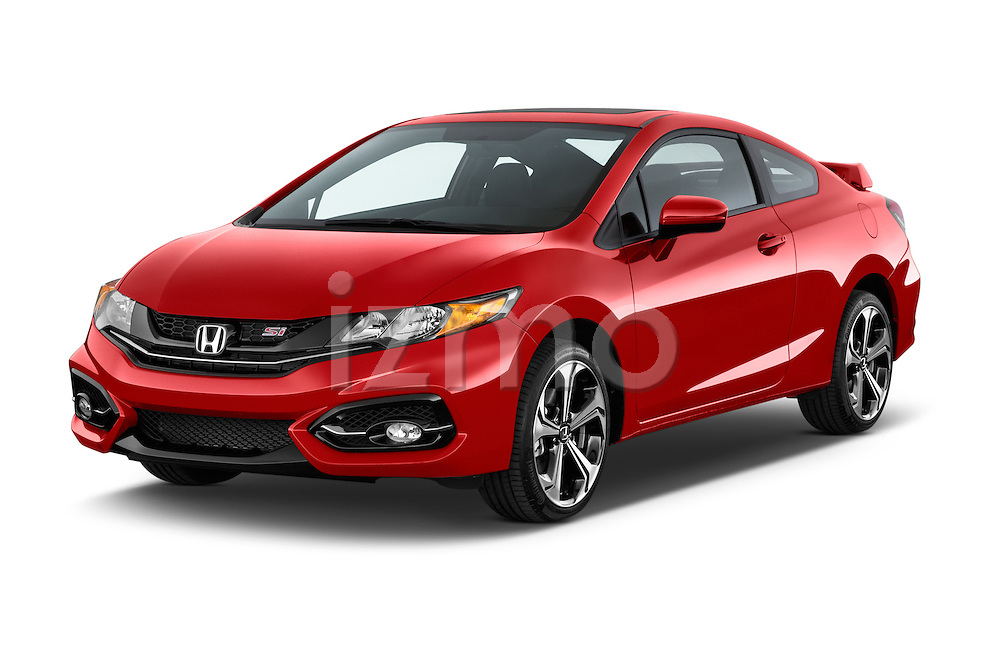 2015 Honda Civic Si Coupe SI 2 Door  Angular Front stock photos of front three quarter view