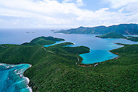 Aerial view of Hurricane Hole and St. John<br /> U.S. Virgin Islands