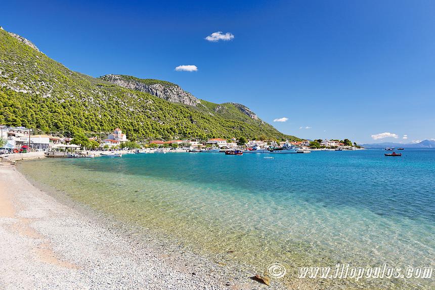 The beach Agios Georgios Lichada in Evia island, Greece