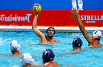 Charles Canonne in action during game between Montenegro against France LEN European Water Polo Championships, Barcelona 16.07.2018