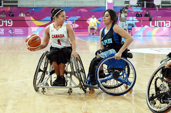 Rosalie Lalonde, Lima 2019 - Wheelchair Basketball // Basketball en fauteuil roulant.<br /> Women's wheelchair basketball competes against Argentina // Le basketball en fauteuil roulant féminin contre Argentine. 25/08/2019.