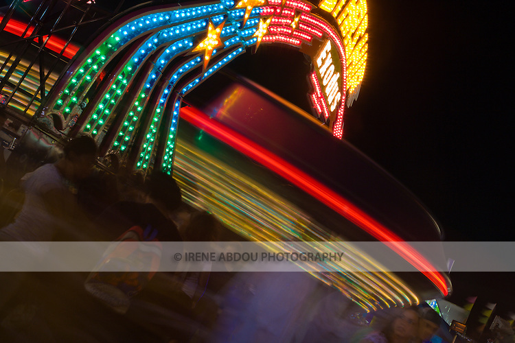Residents enjoy the carnival rides at the 2007 Montgomery County Agricultural Fair in Gaithersburg, Maryland.