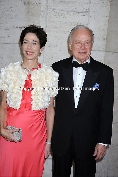 """Barbara and Meyer Feldberg arriving at The New York City Ballet's 2011 Spring Gala.at The David Koch Theatre at Lincoln on May 11, 2011 in New York City. The world premiere of Brecht/Weill's  """"The Seven Deadly Sins"""" was the opening night performance."""