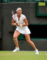 28-06-13, England, London,  AELTC, Wimbledon, Tennis, Wimbledon 2013, Day five, Petra Kvitova (CZE)<br /> <br /> <br /> <br /> Photo: Henk Koster