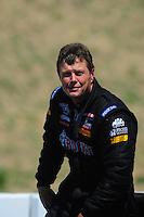 Jul. 30, 2011; Sonoma, CA, USA; NHRA top fuel dragster driver David Grubnic during qualifying for the Fram Autolite Nationals at Infineon Raceway. Mandatory Credit: Mark J. Rebilas-