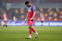 9th January 2021; Brentford Community Stadium, London, England; English FA Cup Football, Brentford FC versus Middlesbrough; Goalkeeper Jordan Archer of Middlesbrough looks down to the pitch in disappointment after falling behind