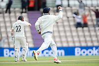 Virat Kohli, India celebrates the dismissal of Kane Williamson, New Zealand during India vs New Zealand, ICC World Test Championship Final Cricket at The Hampshire Bowl on 22nd June 2021