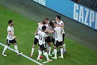 celebrate the goal, Torjubel zum 2:1 von Joshua Kimmich (Deutschland Germany) mit Robin Gosens (Deutschland Germany), Mats Hummels (Deutschland Germany), Thomas Mueller (Deutschland Germany), Matthias Ginter (Deutschland Germany)<br /> - Muenchen 19.06.2021: Deutschland vs. Portugal, Allianz Arena Muenchen, Euro2020, emonline, emspor, <br /> <br /> Foto: Marc Schueler/Sportpics.de<br /> Nur für journalistische Zwecke. Only for editorial use. (DFL/DFB REGULATIONS PROHIBIT ANY USE OF PHOTOGRAPHS as IMAGE SEQUENCES and/or QUASI-VIDEO)