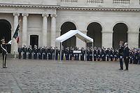 Bruno Le Roux - CÈrÈmonie d'hommage aux militaires de la Gendarmerie morts en 2016, ‡ l'Hotel National des Invalides ‡ Paris, le 16/02/2017. # CEREMONIE D'HOMMAGE AUX MILITAIRES DE LA GENDARMERIE MORT EN 2016
