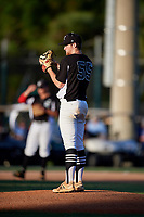 Jacob Ryan during the WWBA World Championship at the Roger Dean Complex on October 18, 2018 in Jupiter, Florida.  Jacob Ryan is a right handed pitcher from Cumming, Georgia who attends Forsyth Central High School.  (Mike Janes/Four Seam Images)