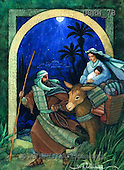 Randy, HOLY FAMILIES, HEILIGE FAMILIE, SAGRADA FAMÍLIA, paintings+++++Flight-Into-Egypt,USRW73,#xr#