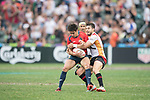 Germany vs Spain during their Qualifiers Final as part of the HSBC Hong Kong Rugby Sevens 2017 on 09 April 2017 in Hong Kong Stadium, Hong Kong, China. Photo by Weixiang Lim / Power Sport Images