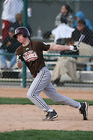 January 17, 2010:  Landon Hallam (Edmond, OK) of the Baseball Factory Mountain Team during the 2010 Under Armour Pre-Season All-America Tournament at Kino Sports Complex in Tucson, AZ.  Photo By Mike Janes/Four Seam Images