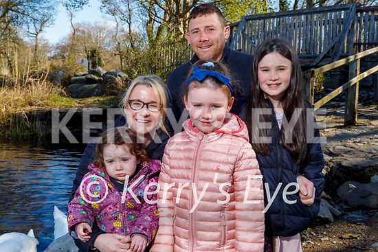The Kissane family enjoying a stroll at Ross Castle in Killarney on Saturday, l to r: Emily, Megan, Lily, Abbie and Philip Kissane.