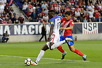 Harrison, NJ - Friday Sept. 01, 2017: Jozy Altidore, Johnny Acosta during a 2017 FIFA World Cup Qualifier between the United States (USA) and Costa Rica (CRC) at Red Bull Arena.