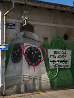 Wandbild in Novi Sad = Neusatz, Vojvodina, Serbien, Europa<br /> mural in Novi Sad, Vojvodina, Serbia, Europe