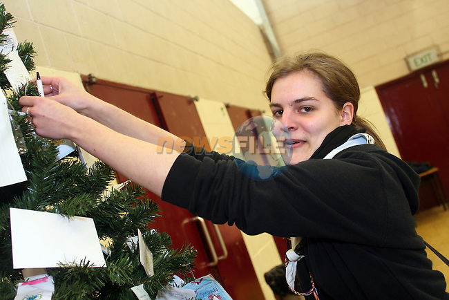 """Belgian Girl Guide Catherine Ackermans at the Girl Guides """"World Thinking Day"""" in St Oliver's School...Photo NEWSFILE/Jenny Matthews.(Photo credit should read Jenny Matthews/NEWSFILE)....This Picture has been sent you under the condtions enclosed by:.Newsfile Ltd..The Studio,.Millmount Abbey,.Drogheda,.Co Meath..Ireland..Tel: +353(0)41-9871240.Fax: +353(0)41-9871260.GSM: +353(0)86-2500958.email: pictures@newsfile.ie.www.newsfile.ie.FTP: 193.120.102.198."""