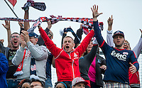 Chester, PA - April 19, 2015: The New England Revolution defeated the Philadelphia Union 2-1 during their Major League Soccer (MLS) match at PPL Park.