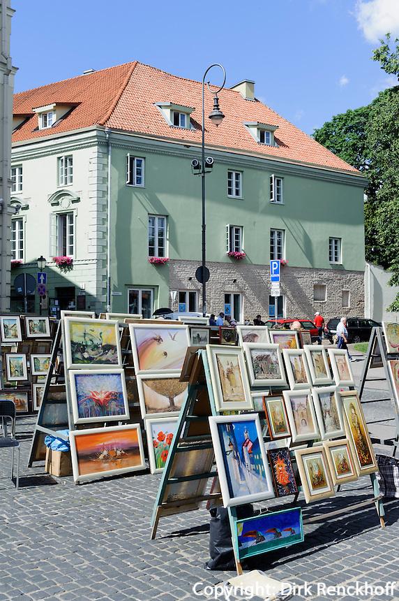 Bildermarkt in VilniusBildermarkt in Vilnius, Litauen, Europa, Unesco-Weltkulturerbe