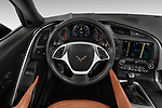 Car pictures of steering wheel view of a 2019 Chevrolet Corvette Stingray 3LT 2 Door Coupe