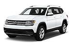 2019 Volkswagen Atlas S 5 Door SUV angular front stock photos of front three quarter view