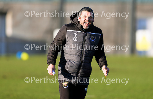 St Johnstone Training…. 22.12.20<br />Manager Callum Davidson pictured during training at McDiarmid Park<br />Picture by Graeme Hart.<br />Copyright Perthshire Picture Agency<br />Tel: 01738 623350  Mobile: 07990 594431