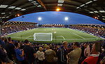 Three and a half stands full of Rangers supporters on a Friday evening in Airdrie's Excelsior Stadium