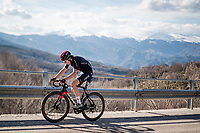 Geraint Thomas (GBR/Ineos Grenadiers) up the final climb towards the finish up Prati di Tivo<br /> <br /> Stage 4 from Terni to Prati di Tivo (148km)<br /> <br /> 56th Tirreno-Adriatico 2021 (2.UWT) <br /> <br /> ©kramon