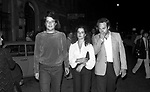 CHRISTIAN DE SICA CON SILVIA E CARLO VERDONE<br /> INAUGURAZIONE VELENO CLUB - FESTA CALIGOLA ROMA 1980