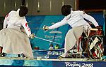 Pierre Mainville against Hu Daoliang<br /> Pierre lost<br /> - Photo Benoit Pelosse-CPC