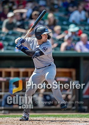 23 June 2019: Trenton Thunder outfielder Matt Lipka in action against the New Hampshire Fisher Cats at Northeast Delta Dental Stadium in Manchester, NH. The Thunder defeated the Fisher Cats 5-2 in Eastern League play. Mandatory Credit: Ed Wolfstein Photo *** RAW (NEF) Image File Available ***