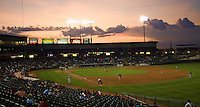 Dell Diamond Sunset 4762.jpg.  PCL baseball featuring the Memphis Redbirds at Round Rock Express at Dell Diamond on August 25th 2009 in Round Rock, Texas. Photo by Andrew Woolley.