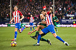 Yannick Ferreira Carrasco (r) of Atletico de Madrid battles for the ball with Daniel Ceballos Fernandez 'Dani Ceballos' of Real Betis Balompie during their La Liga 2016-17 match between Atletico de Madrid vs Real Betis Balompie at the Vicente Calderon Stadium on 14 January 2017 in Madrid, Spain. Photo by Diego Gonzalez Souto / Power Sport Images