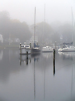 Wickford, Boats in Fog