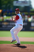 Stockton Ports starting pitcher Jake Bray (39) delivers a pitch during a California League game against the Rancho Cucamonga Quakes at Banner Island Ballpark on May 17, 2018 in Stockton, California. Stockton defeated Rancho Cucamonga 2-1. (Zachary Lucy/Four Seam Images)