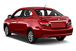 Car pictures of rear three quarter view of 2020 Mitsubishi Mirage-G4 SE 4 Door Sedan Angular Rear