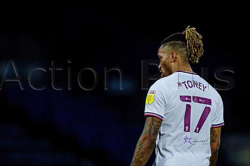 21st November 2020; Adams Park Stadium, Wycombe, Buckinghamshire, England; English Football League Championship Football, Wycombe Wanderers versus Brentford; Ivan Toney (Brentford)