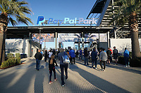 SAN JOSE, CA - MAY 1: Fans enter PayPal Park before a game between D.C. United and San Jose Earthquakes at PayPal Park on May 1, 2021 in San Jose, California.
