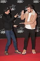 Bigflo et Oli arrivent sur le Tapis Rouge / Red Carpet avant la Ceremonie des 19 EME NRJ MUSIC AWARDS 2017, Palais des Festivals et des Congres, Cannes Sud de la France, samedi 4 novembre 2017.